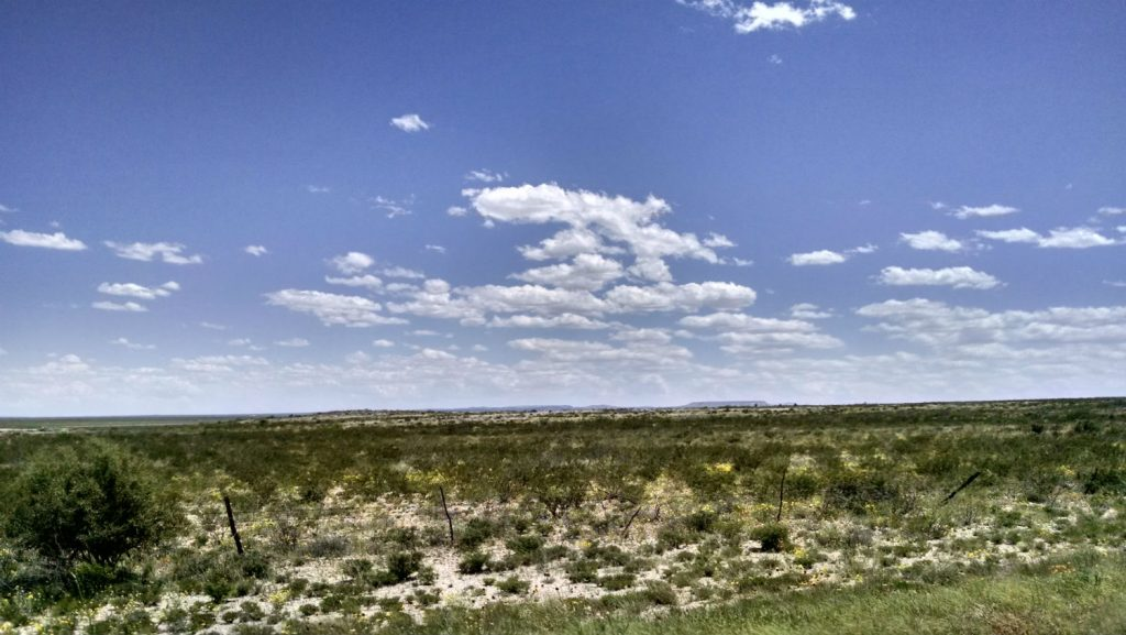 Miles and miles of West Texas. Photo: Stephen K. Peeples, April 2015.