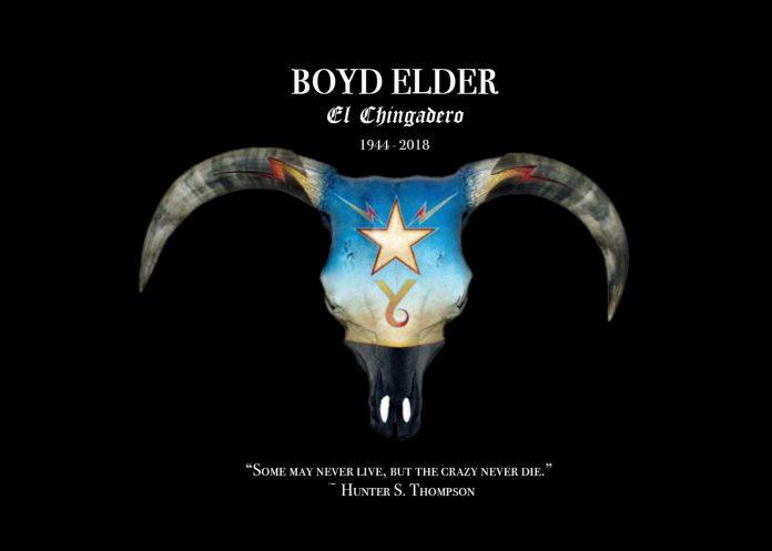 Boyd Elder Justine's invitation