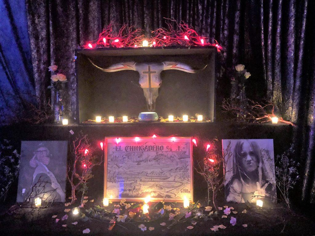 """Murderer"" at No AMF bash for Boyd Elder at Justine's in Austin on Feb. 5, 2019. Photo: Shaula Elder."