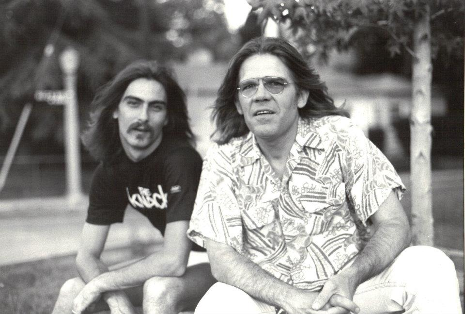 Henry Diltz (right) and Stephen K. Peeples, Studio City, summer 1980. Photo: Ruth Peeples.