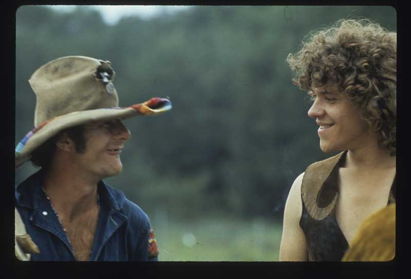 Wavy Gravy and Michael Lang at Woodstock, August 1969. Photo: Henry Diltz. Used with permission.