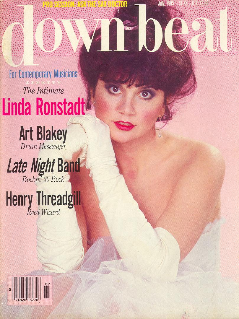 linda ronstadt cover story downbeat july 1985