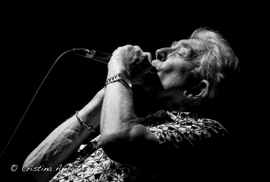 John Mayall wails on harmonica, 2015. Photo: Cristina Arrigoni Photography, via Mayall's Facebook page.