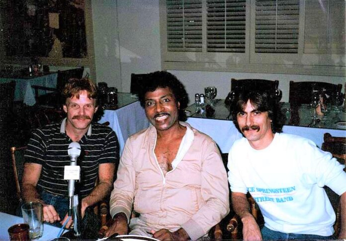 little richard -- Steve Downes, Little Richard, Stephen K. Peeples, Continental Hyatt House, Hollywood, California, Jan. 10, 1986.